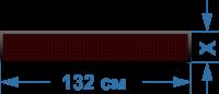 Светодиодное табло шириной 132 см., высотой от 20 до 100 см. Полноцвет.