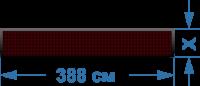 Светодиодное табло шириной 388 см., высотой от 20 до 100 см. Красное.