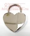 Свадебный замочек с ключом серебристый